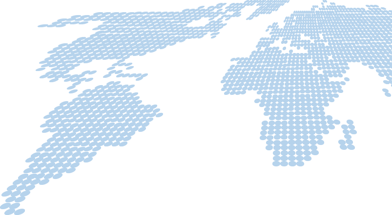 Cartoon map graphic